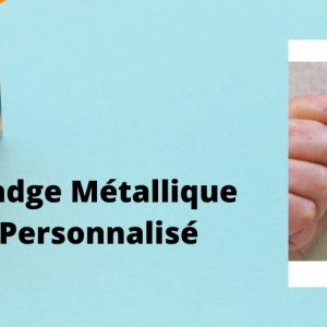badge métallique