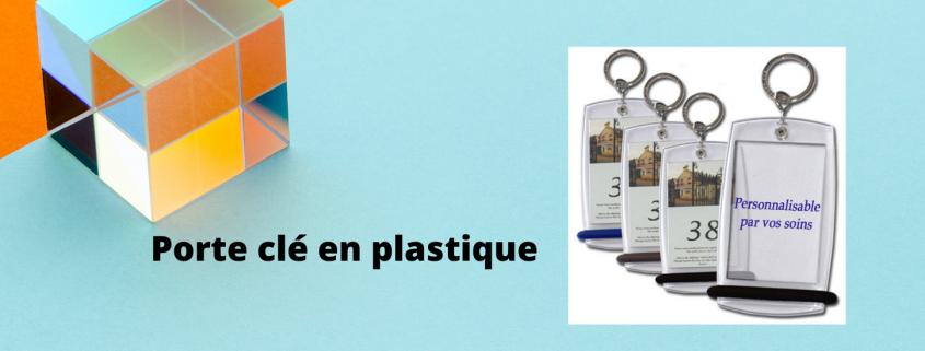 Porte clé en plastique